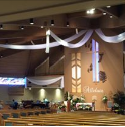 St. Edith Church decorated for Easter